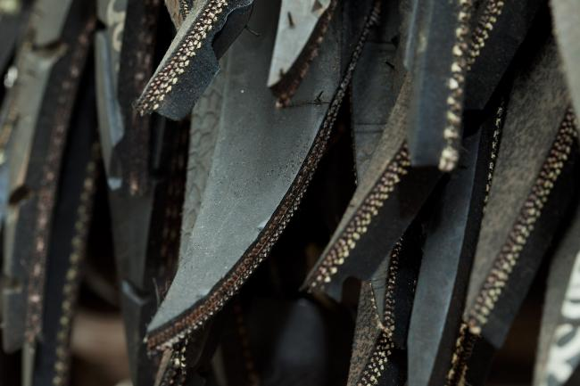 A close up of Booker's tire installation for WONDER at the Renwick Gallery.  (5 of 18)