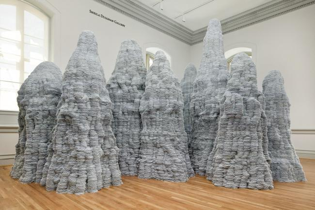 A photography of Tara Donovan's installation for WONDER at the Renwick Gallery. (2 of 18)