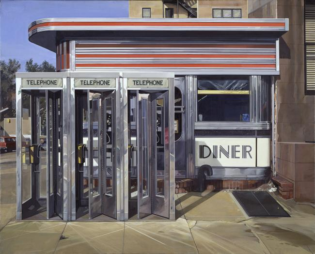 Richard Estes painting of a diner