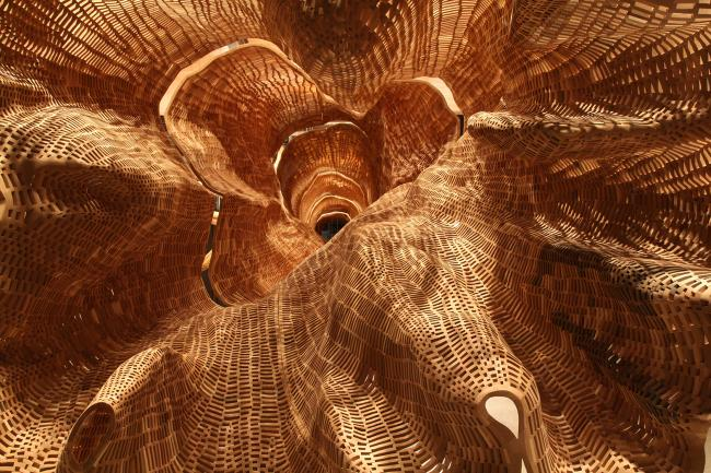 Close up photograph of John Grade's Middle Fork for WONDER at the Renwick Gallery. (13 of 18)