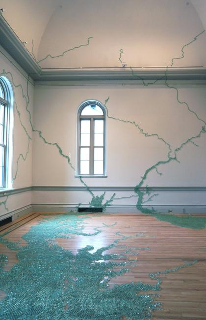 Installation shot of Maya Lin's Folding the Chesapeake for WONDER at the Renwick Gallery. (12 of 18)