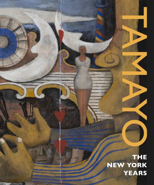 "This is the cover of the ""Tamayo: The New York Years"" book displaying Rufino Tamayo's Carnival painting."