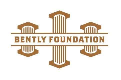 The logo for the Bently Foundation in brown.