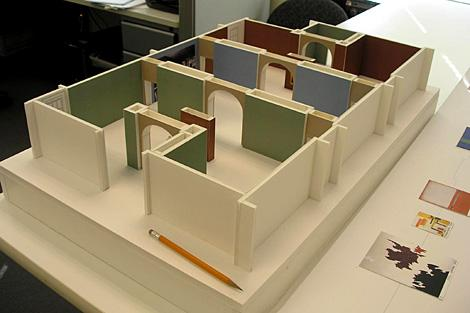 "Scale Model of the Gallery for ""Kindred Spirits"""