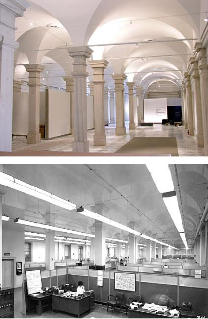 Before and after renovation Lincoln Gallery