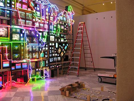 Working on Paik's Electronic Superhighway