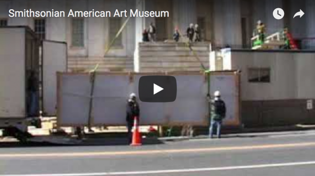How to get a large artwork into the museum