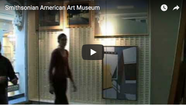 Installing first artworks in Luce Foundation Center