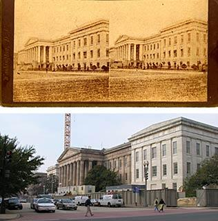 Old Patent Office Building Then and Now