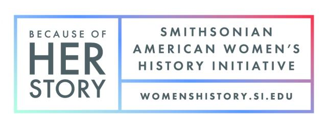 A logo for the Smithsonian American Women's History Initiative