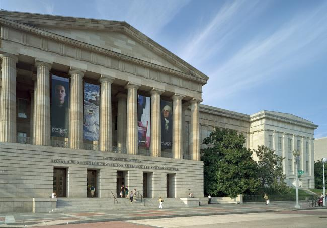 An exterior photograph of the Smithsonian American Art Museum.