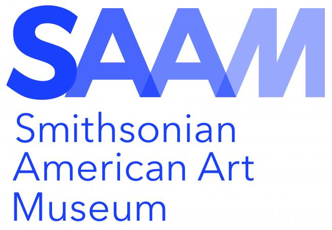 The Smithsonian American Art Museum logo in blue.
