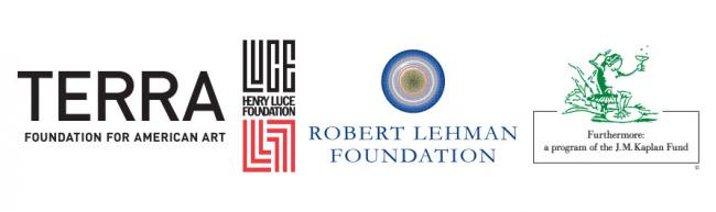 Four logos: Terra Foundation, Luce Foundation, Robert Lehman Foundation, and Futhermore