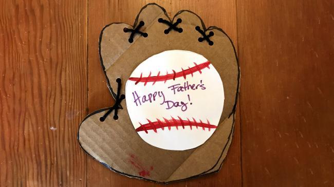 Blog - Father's Day, Baseball Glove card