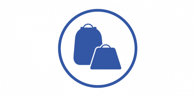 A graphic of bags