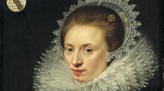 A painting of a woman