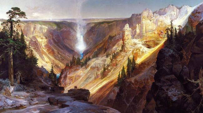 A painting of the Grand Canyon