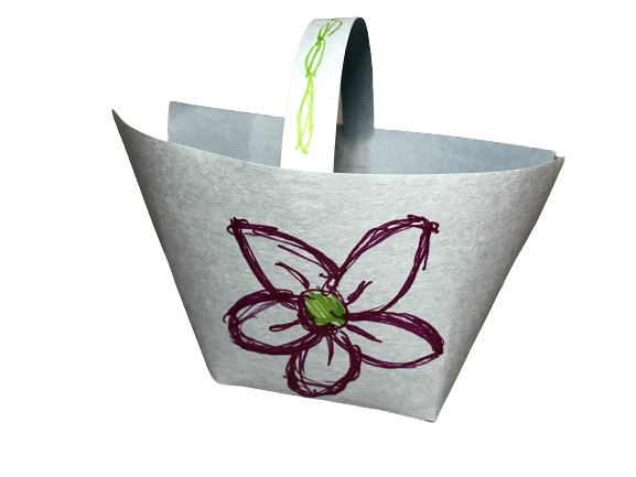 a basket made from paper