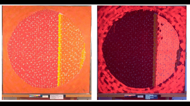 Blog - Alma Thomas Conservation, Multi spectral imaging, cropped for homepage