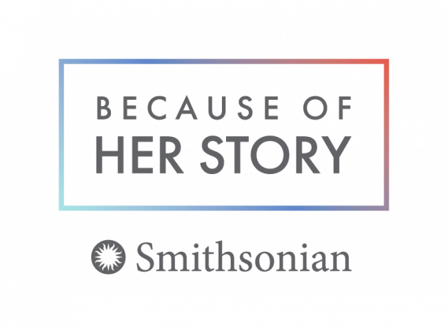 The logo of the Smithsonian's Women's History Initiative