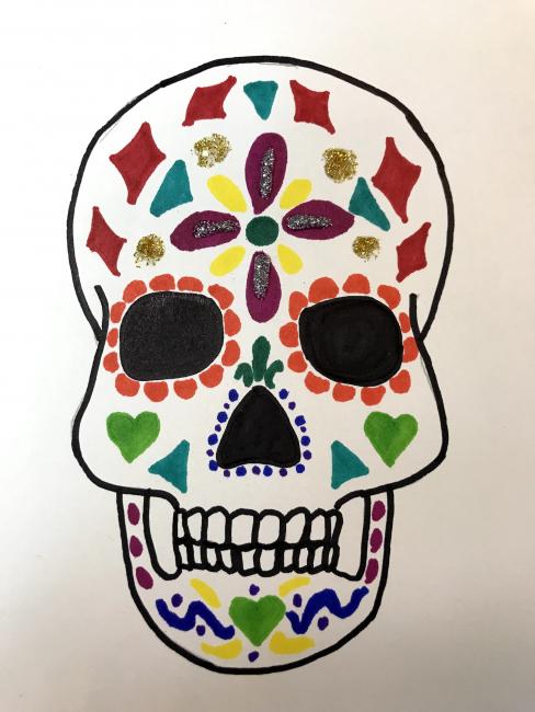 Embellished skull