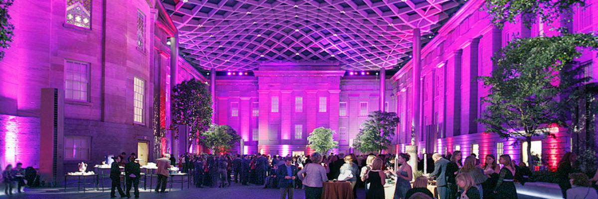 Kogod Courtyard at night