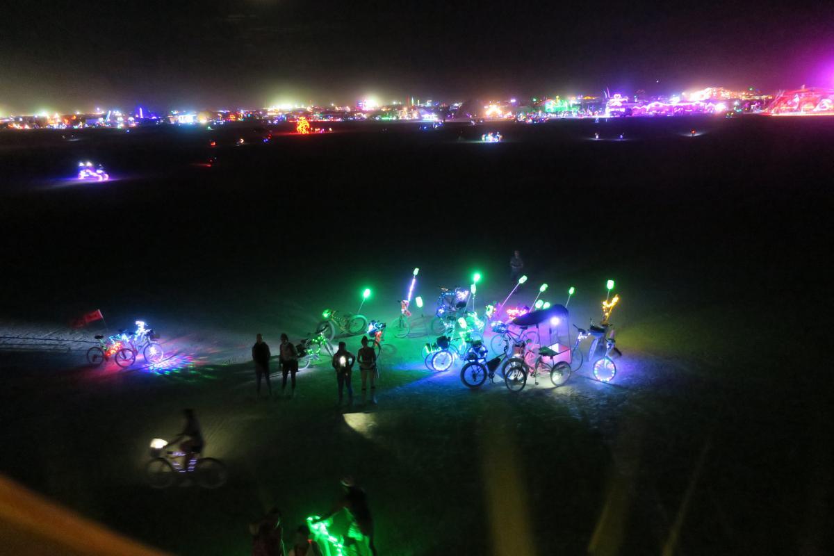 Burning Man, Colorful lights on the Playa