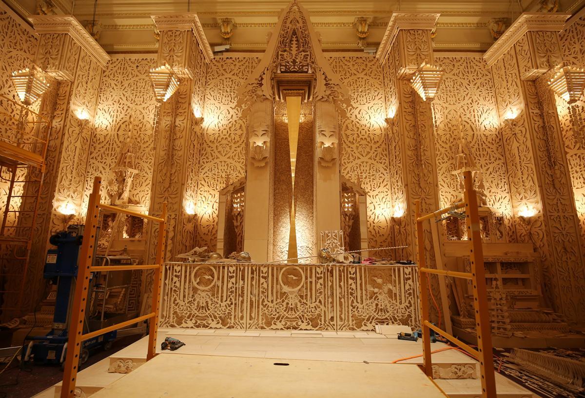 A photograph inside David Best's Temple.