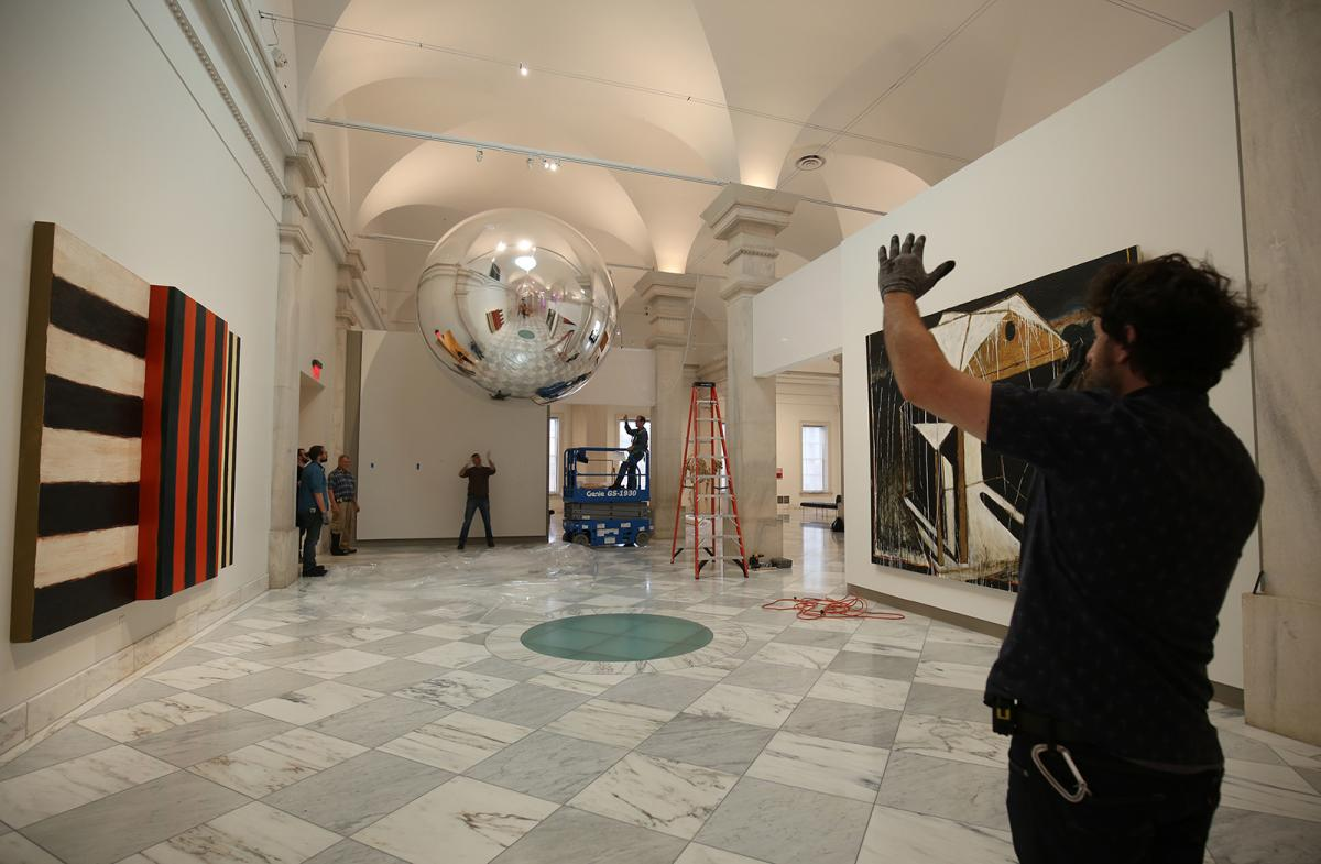 Installation view of Trevor Paglen's satellite at the Smithsonian American Art Museum.