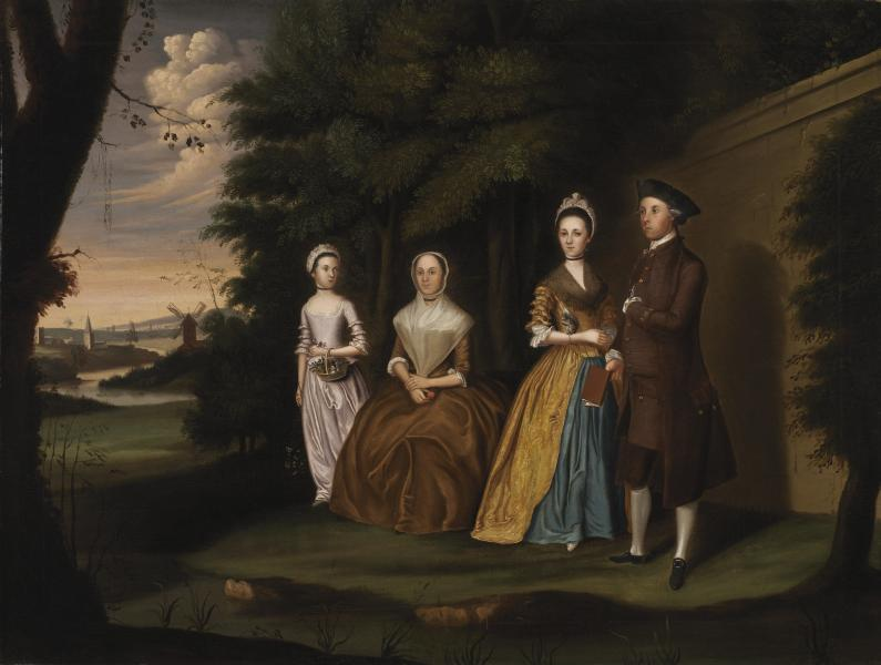 The Wiley Family, painted in 1771, by William Williams
