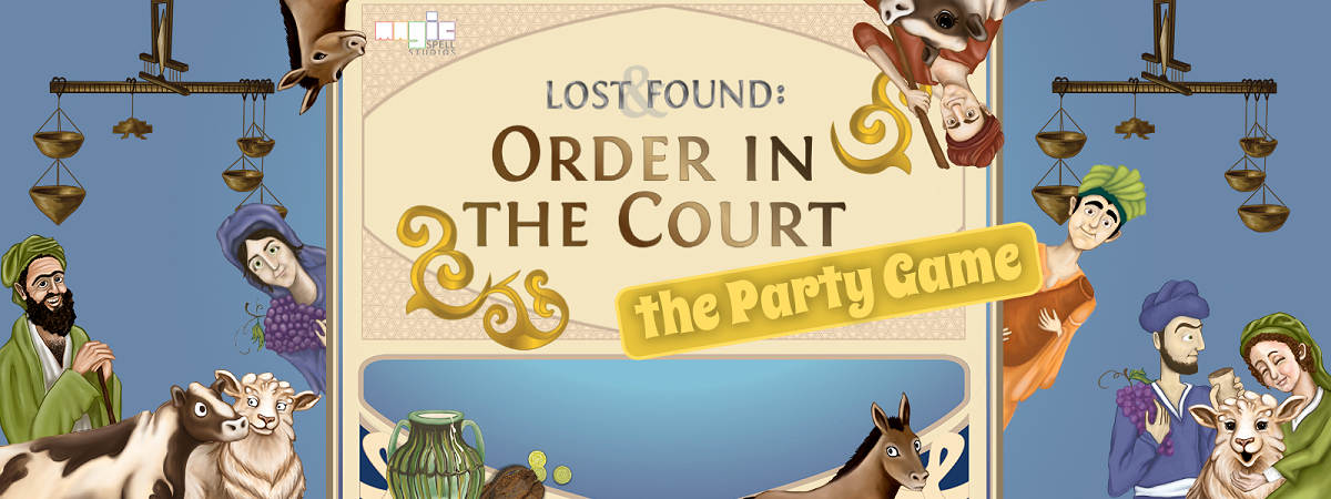 A screen shot of the graphic for Order in the Court