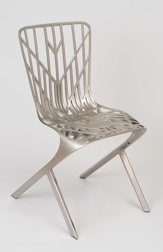 This is a picture of a aluminum chair.