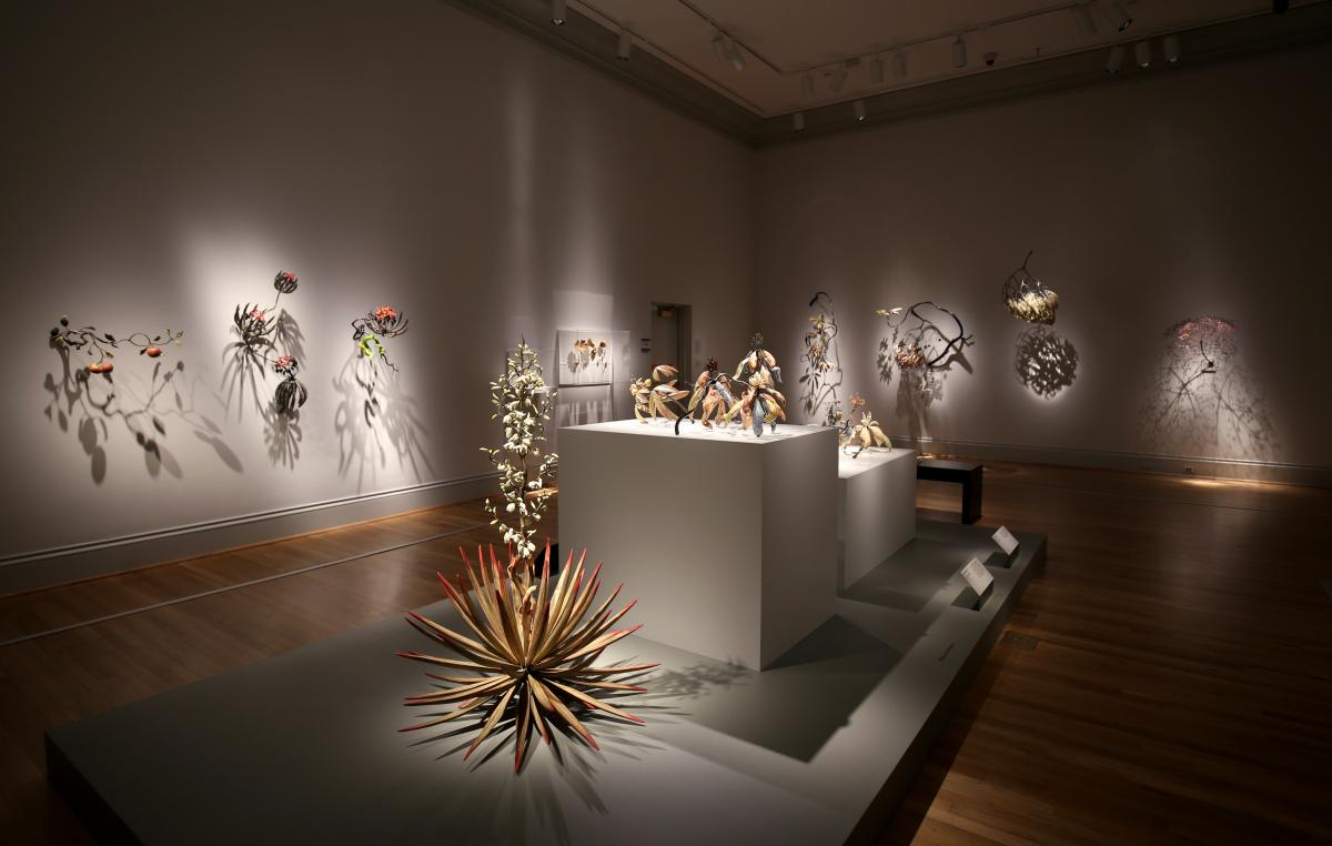 A photograph of Micheal Sherrill's artwork inside the Renwick Gallery.