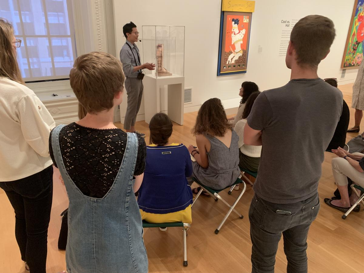 Paisid Aramphongphan speaking about Paul Thek's Warrior's Leg in Artists Respond: American Art and the Vietnam War (1965-75)
