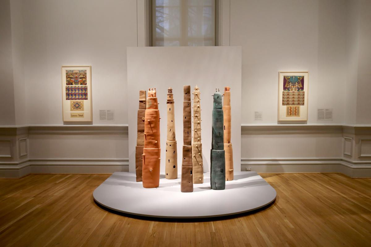 an image of a gallery at the Renwick featuring sculpture