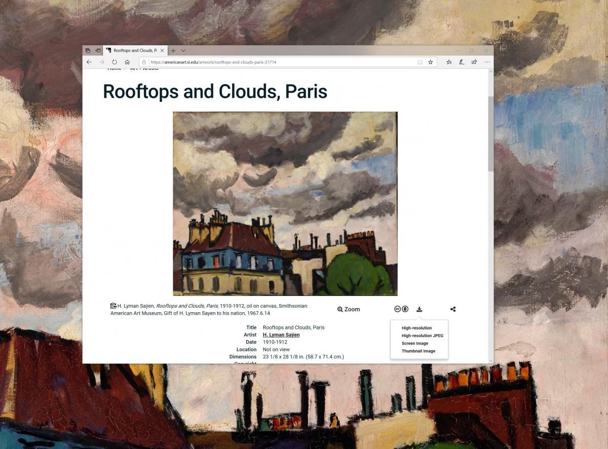 A screenshot of an artwork