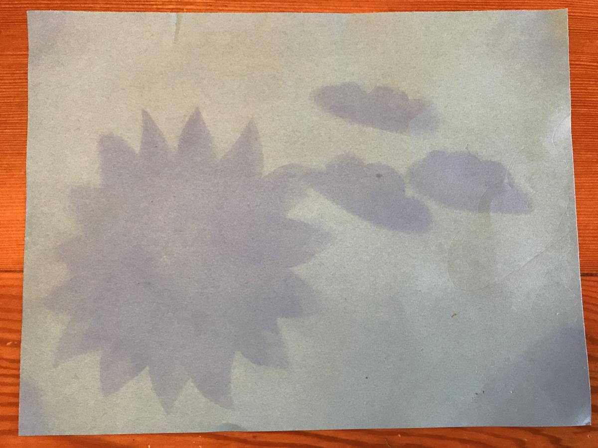 A sunprint artwork