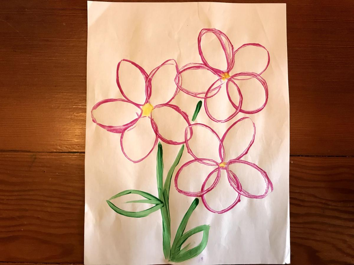 Artwork with flowers
