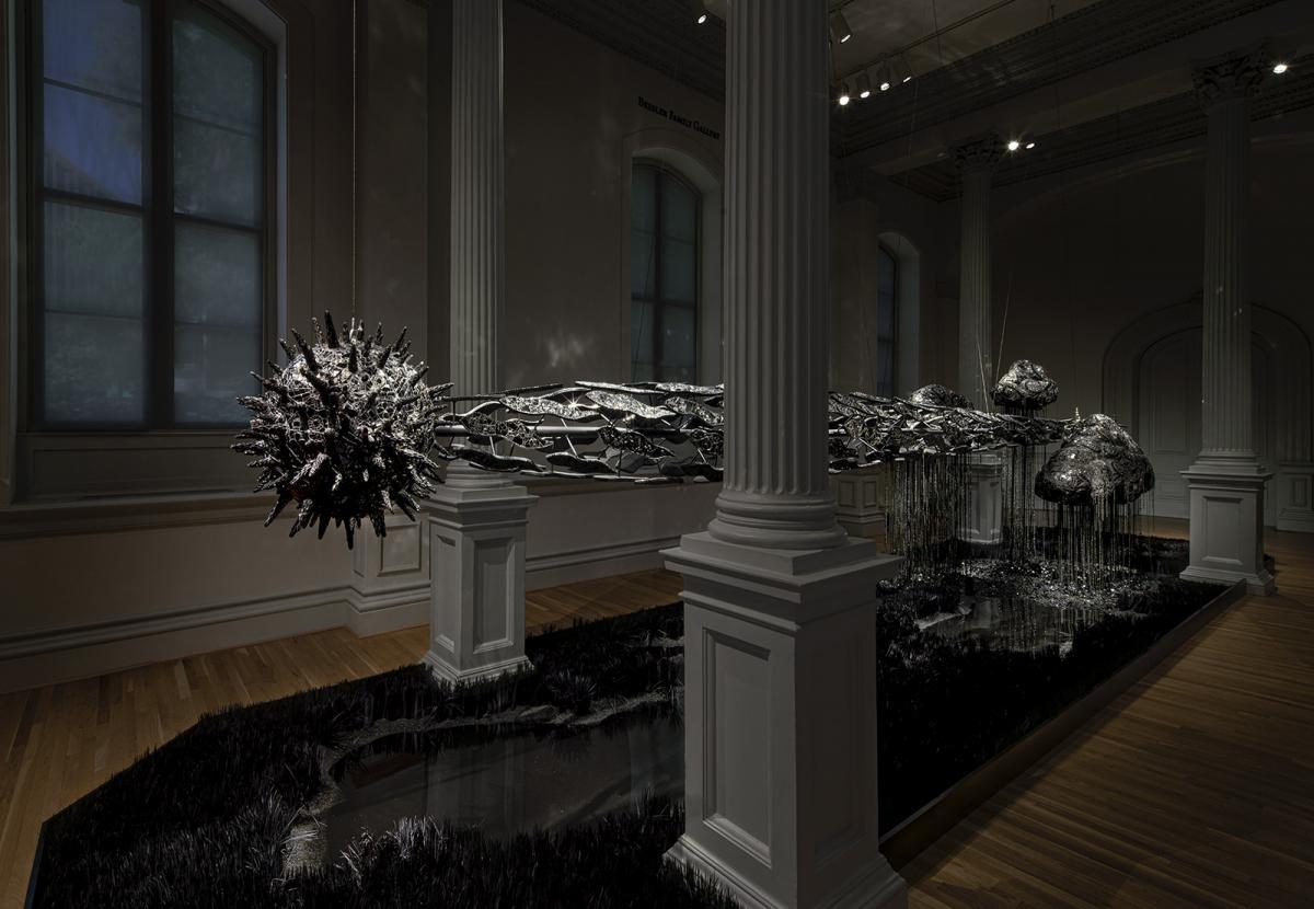 An installation inside an art gallery