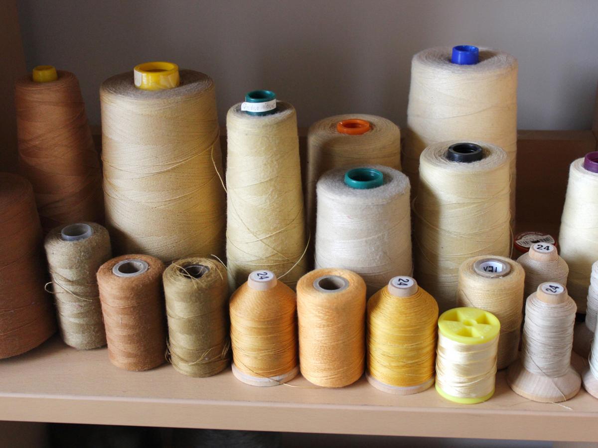 A photograph of balls of thread