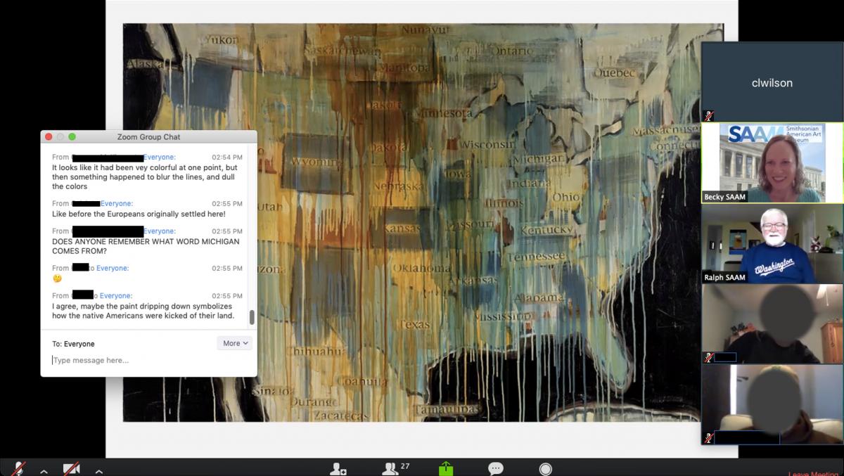 Screen shot of virtual teachers workshop