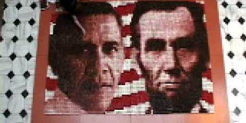 Thumbnail - Construction of Presidential Portraits in Cupcakes / Time-lapse