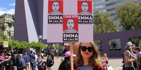 "Thumbnail - Lalo Alcaraz's ""I Stand with Emma"" – American Art Moments"