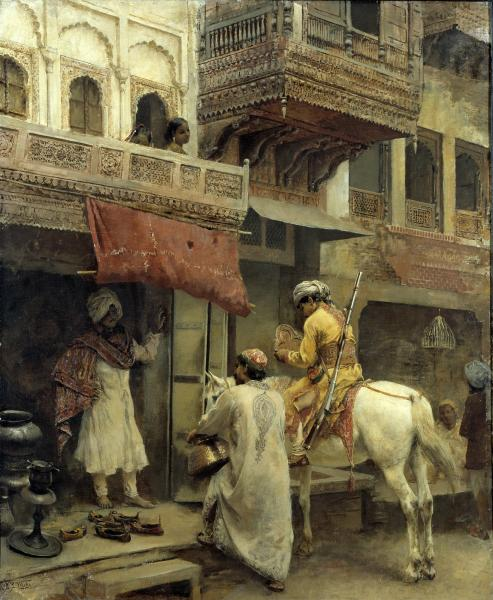 Street Scene in India | Smithsonian American Art Museum