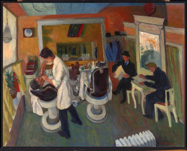 in the barber shop smithsonian american art museum