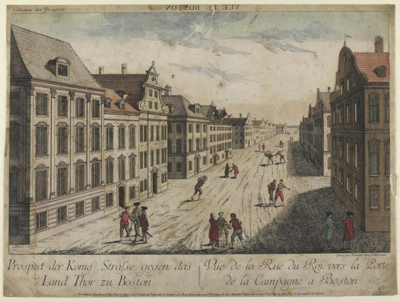 Vue de la Rue du Roi--Boston (1776)   Smithsonian American