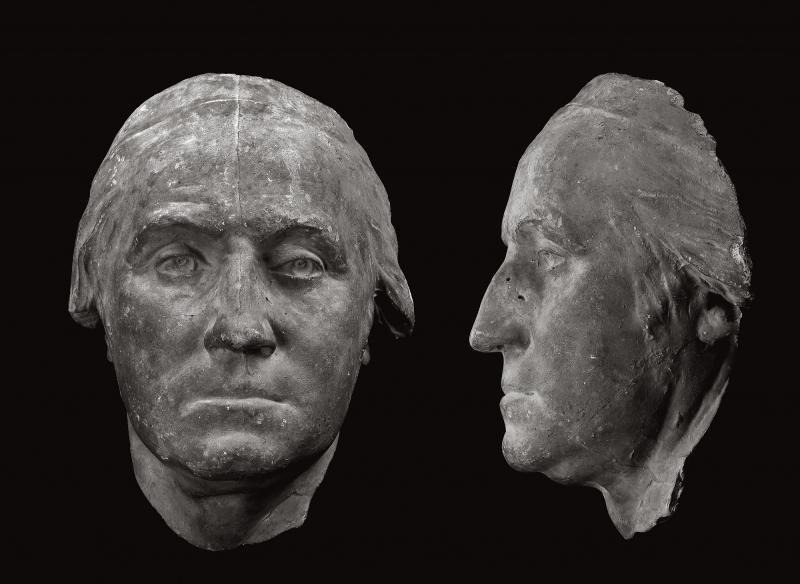 Cast of Face from Portrait of George Washington by Houdon