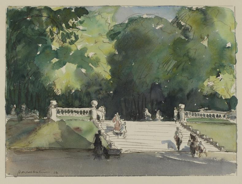 In the Luxembourg Gardens, Paris | Smithsonian American Art Museum