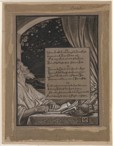 Rubaiyyat illustration by Elihu Vedder (verses 37-39)
