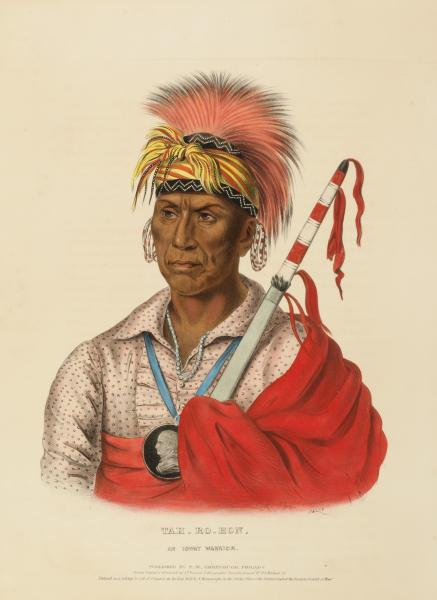 TEH RO HON AN IOWAY WARRIOR From History Of The Indian Tribes North America